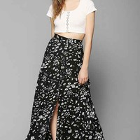 Kimchi Blue Country Picnic Maxi Skirt- Black Multi L
