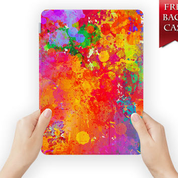ipad air 2 case leather smart cover pigment dye colour for ipad mini ipad air 1 2 3 retina display splash-10design10