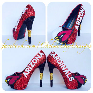 Arizona Cardinals Glitter High Heels