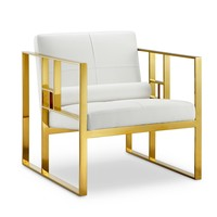 Westgate Lounge Chair WHITE/POLISHED GOLD