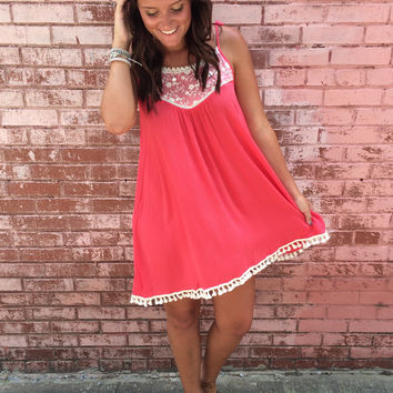 Tank Dress With Lace Detail