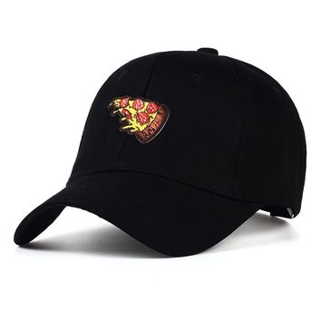 2017 100 %cotton Pizza Embroidery Adjustable Baseball Cap boys girls hat travel hats for men and women dad cap