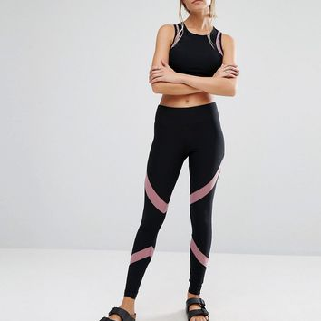 South Beach Mesh Insert Active Leggings