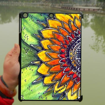 Sunflower mandala Pattern iPad Case,Flower iPad mini Case,iPad Air Case,iPad 3 Case,iPad 4 Case,ipad case,ipad cover, ipad mini cover ipad air,iPad 2/3/4-075