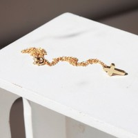 Tiny Gold Cross Necklace -GOLD- Small Gold Cross necklace