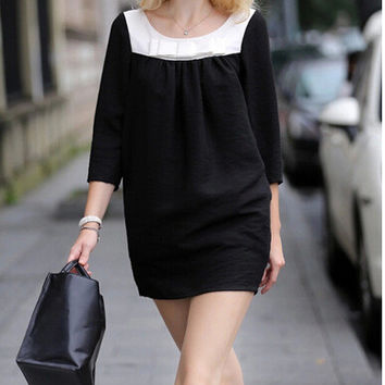 Black Casual Pregnant Butterfly One Piece Dress [6339007233]