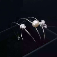 Jewelry Shiny New Arrival Stylish Pearls Butterfly Accessory Bangle [4914833604]