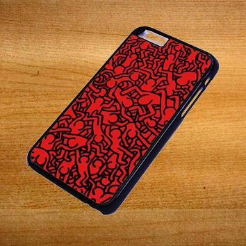 Keith Haring Art Red For iPhone 6 Plus Case *76*