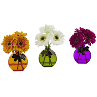 Gerber Daisy w/Vase (Set of 3)