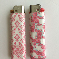 Set of Two Floral Lighters