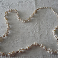 Tiny Seashell Circular Beaded Vintage Long Necklace