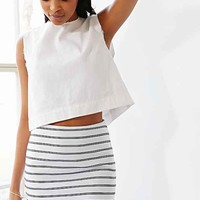 Silence + Noise Textured Striped Mini Skirt
