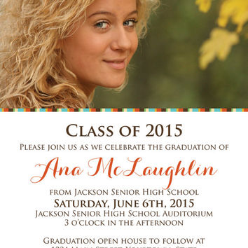 "ON SALE PRINTABLE 5"" x 7"" Photo Graduation Announcement/Invitation"