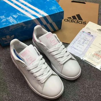 """""""ADIDAS"""" Stan Smith Trending Fashion Casual Knot Mesh uppers Sports Shoes G-ALXY"""