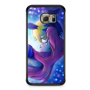 Flounder and Ariel The Little Mermaid Samsung Galaxy S6 Edge case