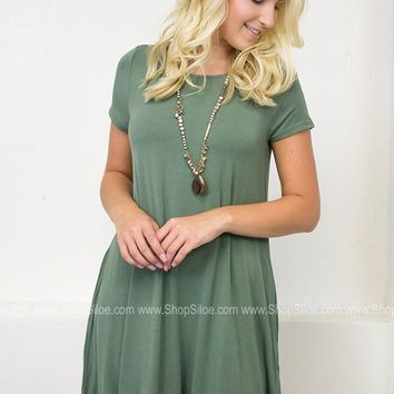 Nature Solid Pocket Dress | Solids