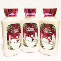 Bath & Body Works - Twisted Peppermint Holiday Traditions Body Lotion (Pack of 3)