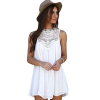 White Beach Cocktail Dress