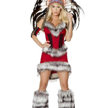 Roma Costume 4705 - 3Pc Native American Babe