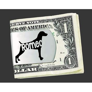 Weimaraner Money Clip | Gifts for Men