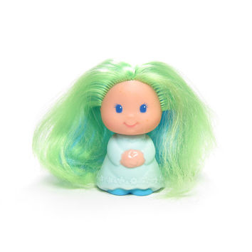 Perkypeek Doll Lady Lovely Locks Vintage Hide N Peek Toy with Blue & Green Hair
