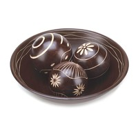 Decorative Vase And Ball Accents