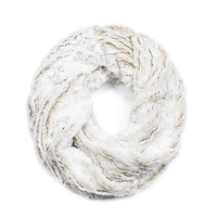 Twisted Faux Fur Infinity Scarf - Creme Brulee