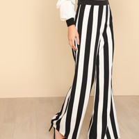 Color Block Wide Leg Pants