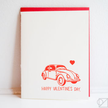 Love Bug Valentine's Day Greeting Card