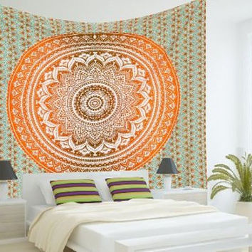 MANDALA Hippy boho YOGA meditation Mandala Tapestry Wall Hanging Throw Cotton Bedspread Beach Spread Bed Spread Picnic Spread