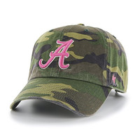 Women's NCAA University of Alabama Camo Embroidered Cap by '47 Brand