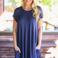 Weekend Wonder Dress - Navy