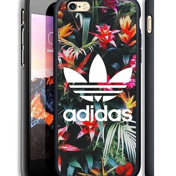 Adidas Tropical Floral Print On Hard Case For iPhone 6 6s Plus 7 8 Plus Cover