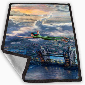 Disney Peter Pan Art Special Design Blanket for Kids Blanket, Fleece Blanket Cute and Awesome Blanket for your bedding, Blanket fleece *