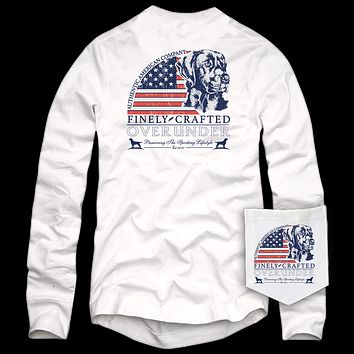 Long Sleeve Finely Crafted Tee in White by Over Under Clothing - FINAL SALE