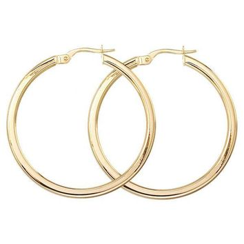 Roberto Coin Basic Gold 35mm Hoop Earrings