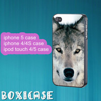 Wolf---iphone 4 case,iphone 5 case,ipod touch 4 case,ipod touch 5 case,in plastic,silicone and black,white.