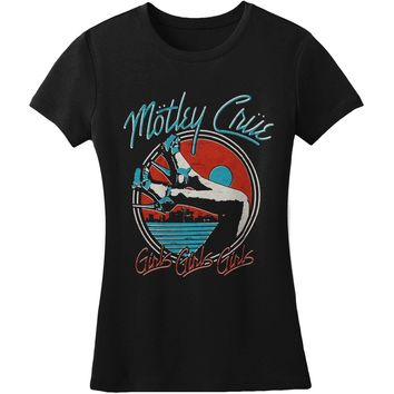 Motley Crue  Heels V3 Women's Junior Top Black
