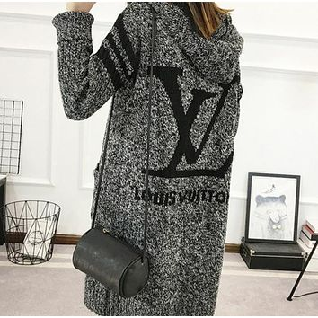 shosouvenir  LV Hooded Sweater Knit Cardigan Jacket Coat