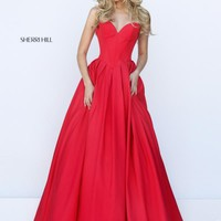 Sweetheart Neckline A Line Sherri Hill Dress 50406