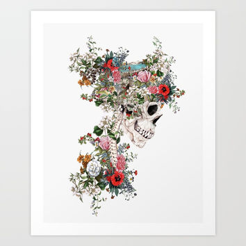 Skull Queen Art Print by RIZA PEKER