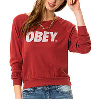 The Triblend Raglan Sweatshirt in Dusty Burgundy