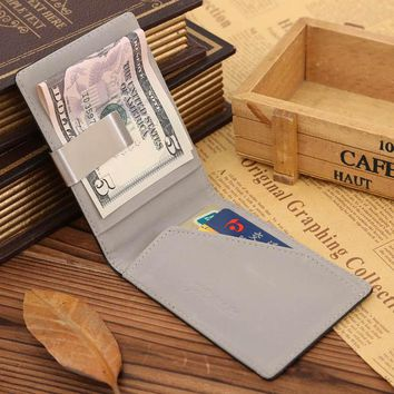 Men Casual Money Clip Light Wallet Cash Cards Coins Purse