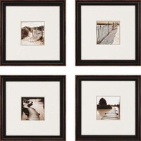 """Paragon Waterfront by Mitchell Waterfront Art (Set of 4) - 17"""" x 17"""" - 1612"""
