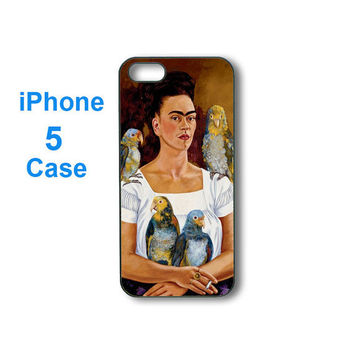 iphone 5 case -- Frida Kahlo,personalize iphone 5 plastic hard case in black or white