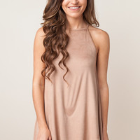 Electric Sky Tan Dress