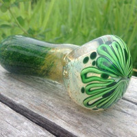Emerald City Glass Pipe - Spon Pipe - Tobacco Pipe Handmade in USA by FlabbaGlass Designs