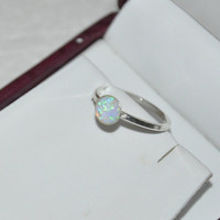 Opal Ring, Silver Ring, Gemstone Ring, Australian Opal, 925 Sterling Silver, sizes-6, 7.5, 8.5, 9, 9.5.  Opal Jewelry, Fashion Jewelry