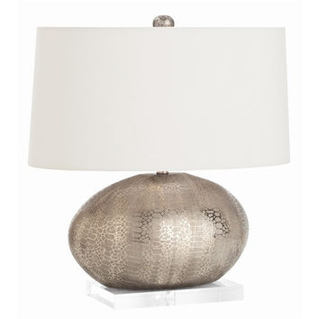Arteriors Home Winslow Metallic Python Pattern Porcelain Lamp