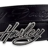 Harley-Davidson Women's Embossed Belt with Harley Buckle. 99500-10VW